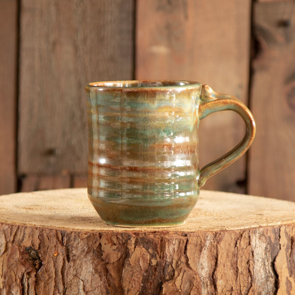Hand Crafted Pottery Mug - Green